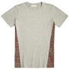 Folk X End. Panel Tee Grey Brick Print