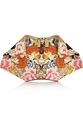 Alexander Mcqueen The De Manta Printed Satin Clutch Net A Porter.Com