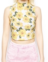 Asos Asos Crop Top In Marigold Print At Asos