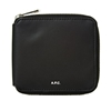 A.P.C. Canvas Zip Round Wallet Black