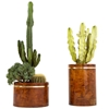 Rare Pair Of Aldo Tura Planters With Brass Details At 1Stdibs