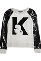 Karl Jerry Pvc Sleeved Cotton Jersey Logo Sweatshirt Net A Porter.Com