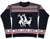 Amazon.Com Ugly Christmas Sweater Reindeer Threesome Sweater Featuring Rudolph By Skedouche Clothing
