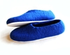 Nautical White Sole Wool Shoes Blue Made to by WoolWalkerShop