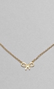 DOGEARED FORGET ME KNOT NECKLACE