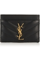 Saint Laurent Quilted Leather Cardholder Net A Porter.Com