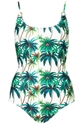 Palm Tree Print Ring One Piece Swimwear Clothing Topshop