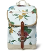 Junya Watanabe Leather Trimmed Flower Print Canvas Backpack Mr Porter