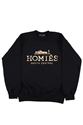 Black Homies Sweatshirt With Gold Ink
