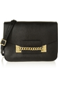 Sophie Hulme Envelope Chain Trimmed Textured Leather Shoulder Bag Net A Porter.Com