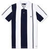 Fred Perry Southsea Deckchairs Tipped Polo Dark Carbon