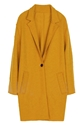 Romwe Romwe Lapel Single Breasted Loose Belted Yellow Coat The Latest Street Fashion