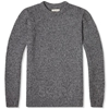 Oliver Spencer Clash Marl Crew Neck Charcoal