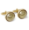 Maison Martin Margiela Gold Plated Glitter Dome T Bar Cufflinks Mr Porter