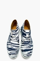 Kenzo Navy White Nevada Toile Chukka Boots For Men Ssense