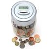 Gift House Int Digital Uk Coin Counting Money Jar Amazon.Co.Uk Kitchen Home