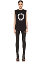 GIVENCHY 7c Sacred Lilies Sleeveless Top in Black