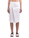 Jil Sander Women's Royal Cotton Gabardine Doubleface Skirt Ln Cc