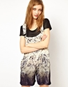 H O U S E of H A C K N E Y 7c HOUSE OF HACKNEY Silk Velvet Dungarees in Dalston Rose Print at ASOS