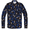 Acne Isherwood Print Shirt Blue Black