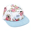 White Rose 5 Panel Cap Hat