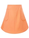 Coral Two Pocket A Line Skirt Carven Avenue32