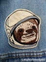 Space Sloth Embroidered Patch 2fBrooch by LeighLaLovesYou on Etsy
