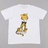 Aries Smoking Cat T Shirt White