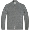 Acne Chet Zipped Cardigan Grey