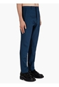 Men's Teal Dot Texture Wool Mohair Trousers