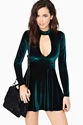 For Love Lemons Anna Velvet Dress Emerald In Clothes Dresses At Nasty Gal
