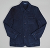Hand Dyed Sashiko Fabric Work Jacket Indigo Hickoree's