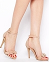 New Look New Look Present Cream Bow Barely There Heeled Sandals At Asos