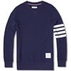 Thom Browne Classic Crewneck Sweatshirt Navy Cotton Terry