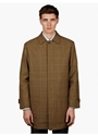 Men's Beige Check Wool Coat