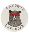 Sandwich Defender Side Plate 2c Jimbob Art Shop more from the Jimbob Art collection online at Liberty co uk