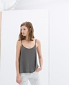 Strappy Top With Low Cut Back Trf New This Week Zara United States