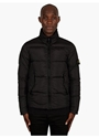 Men's Black Down Filled Nylon Jacket