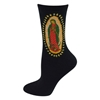 Amazon.Com Socksmith Women's Socks Guadalupe Crew Black 1Pair Clothing