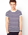 Asos Asos Stripe T Shirt With Crew Neck At Asos