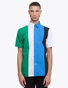 Raf Simons Vertical Block Shirt Blue Tres Bien