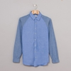 Folk Raglan Shirt Blues Oxford 7c Oi Polloi
