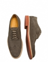 Wing Tip Velour Suede Shoes Forest Green J.Lindeberg