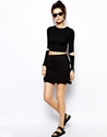 Cheap Monday Cheap Monday Drape Side Mini Skirt At Asos