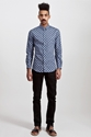 Carven Kaleidoscope Cotton Shirt Navy 7c TR c3 88S BIEN SHOP
