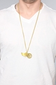 Monserat Delucca Jewelry The Wing Necklace in Brass 3a Karmaloop com Global Concrete Culture