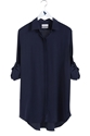 The OVERSIZE SHIRT Women 27s shirt EXTRA LONG SHIRT Navy Silk MiH