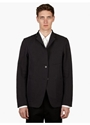 Men's Black Clio Deconstructed Reversible Jacket