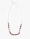 Geo Metal Bead Necklace