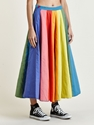 Levi's Red Women's Rainbow Cotton Full Circle Reversible Skirt Ln Cc